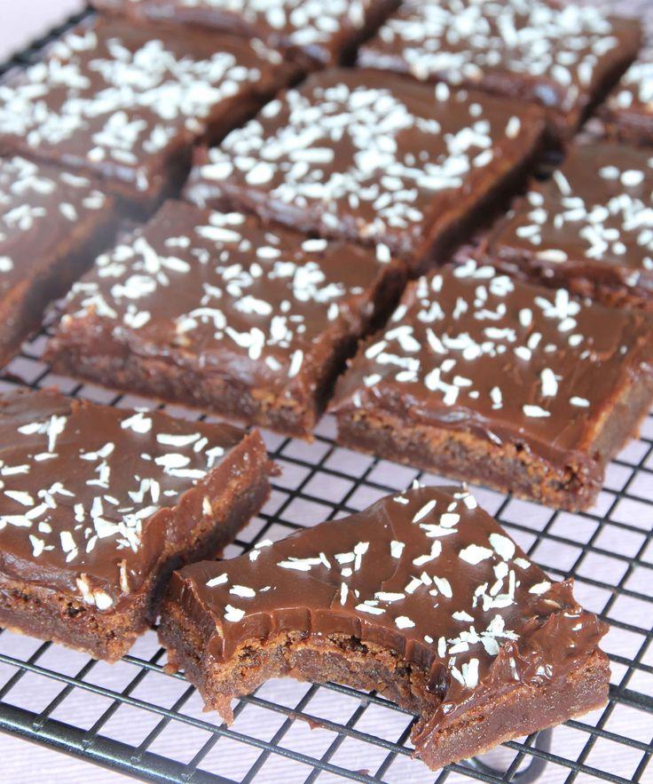 Milk Chocolate Brownies with Dark Chocolate Ganache