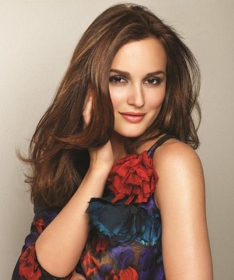 Leighton meester straight hair gossip girl