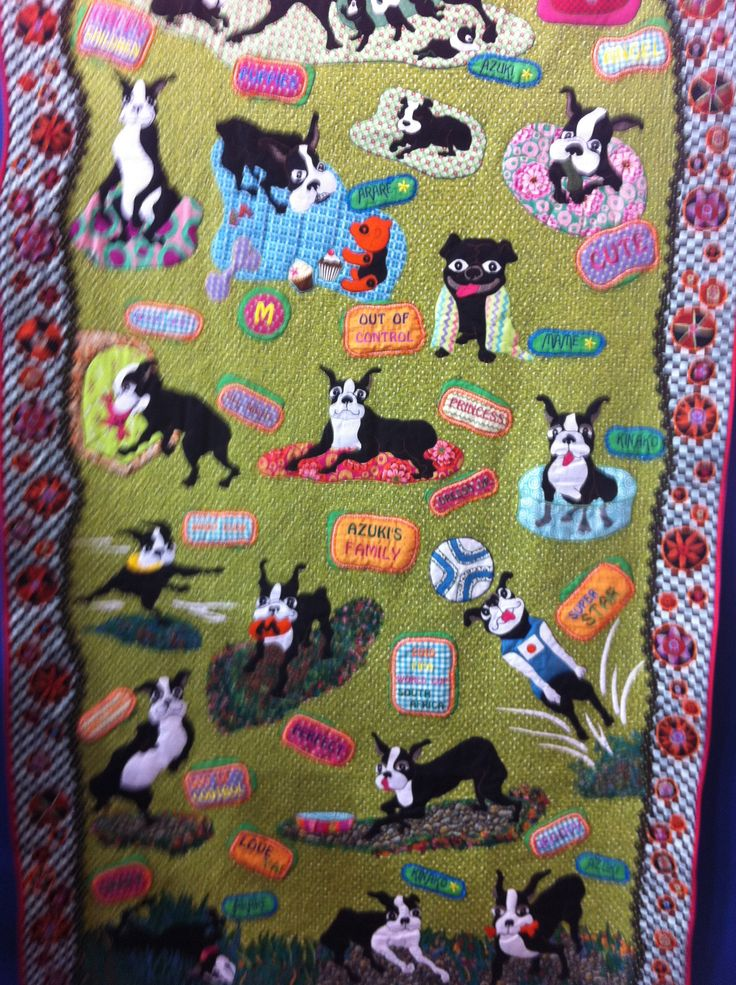 17 Best Images About Boston Terrier Quilts On Pinterest