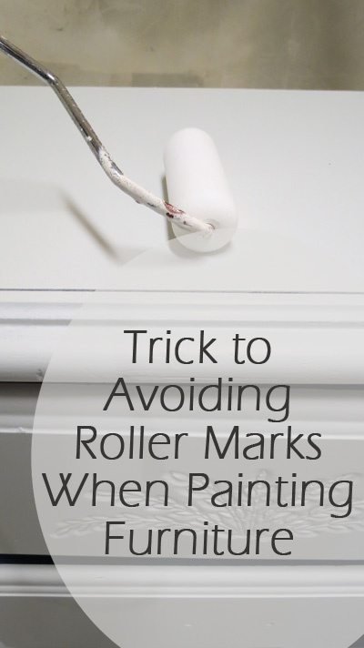 The Trick to Avoiding Roller Marks When Painting Furniture