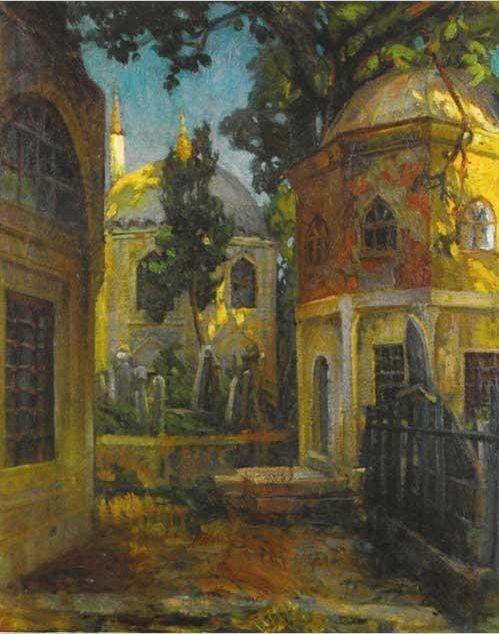 İBRAHİM ÇALLI-cami avlusu-