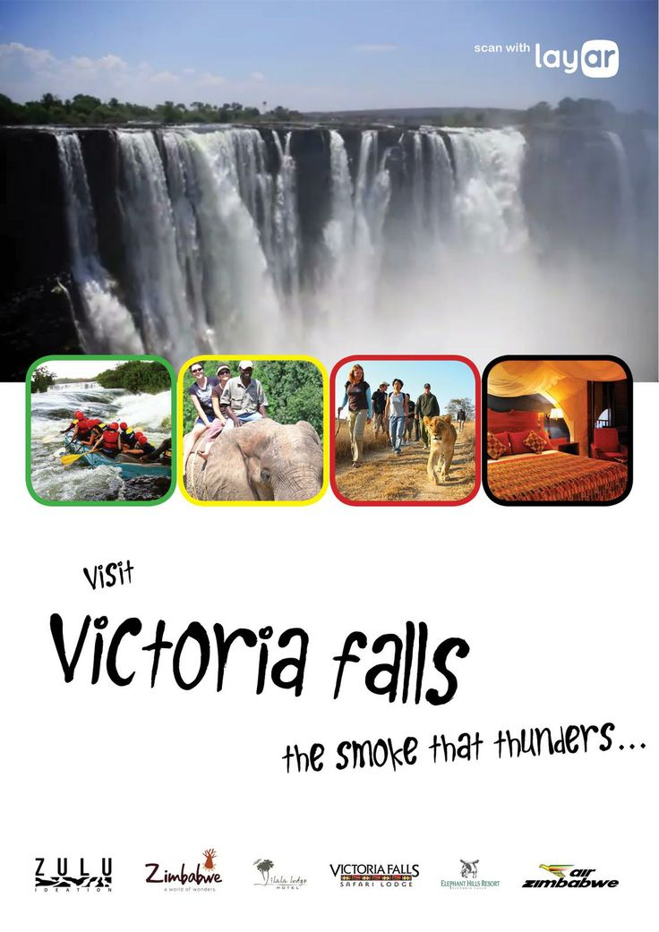 Poster of The Victoria Falls was made interactive using @Layar. Scan with the Layar App to see the amazing waterfall come to life on your mobile device!