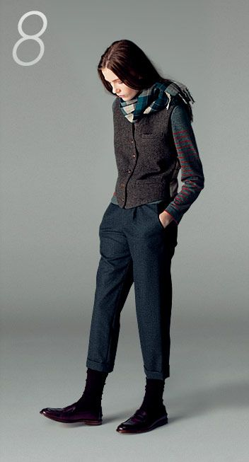 margaret howell f/w 12; love the details (stripes on the sleeve, etc) More