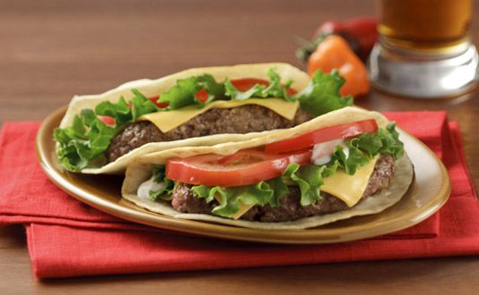 Easy-to-Eat Taco Burgers - Suddenly tacos aren't so messy.