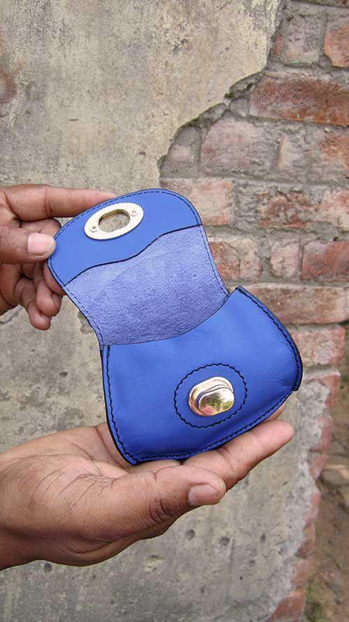 Cobalt Nicola, Chiaroscuro, India, Pure Leather, Handbag, Bag, Workshop Made, Leather, Bags, Handmade, Artisanal, Leather Work, Leather Workshop, Fashion, Women's Fashion, Women's Accessories, Accessories, Handcrafted, Made In India, Chiaroscuro Bags - 2