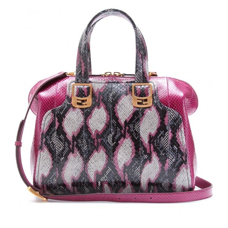 Fendi: Shoulder Bags, Snakeskin All, Handbags Fetish, Design Handbags, Chameleons Snakeskin, Luxury Bags, Fendi Pur, Fendi Chameleons, Fendi Handbags