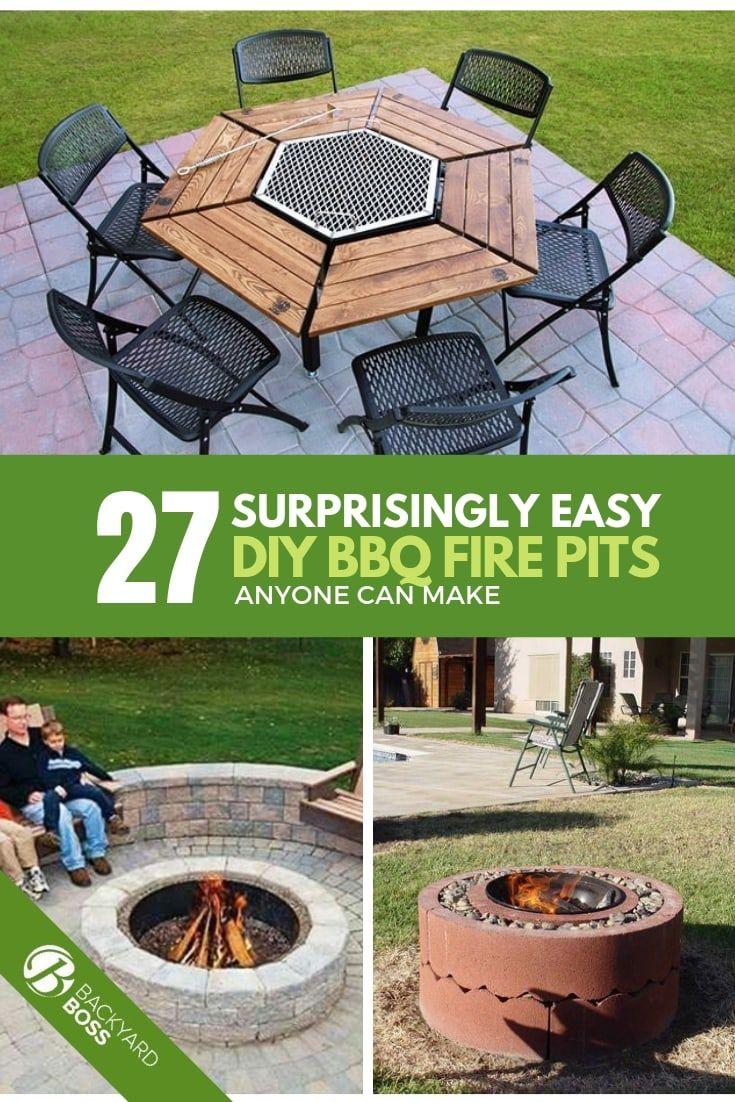 27 Easy Diy Bbq Fire Pit Ideas Anyone Can Make Backyard Fire