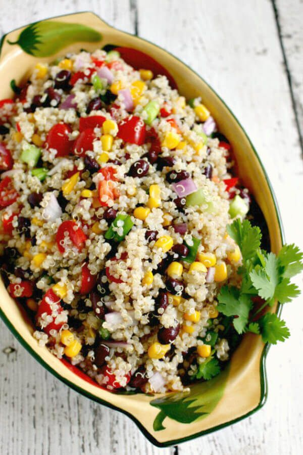 This Southwest Quinoa Salad is one of my favorite easy quinoa salad recipes. Loaded with black beans and veggies, it's a great cold summer salad.