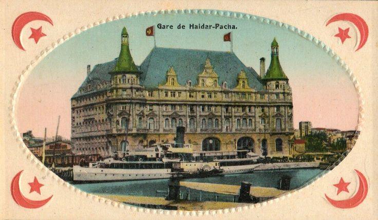 [Ottoman Empire] Haydarpaşa Train Station, Istanbul, 1900s (Osmanlı Haydarpaşa Tren Garı)