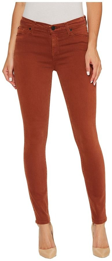 Hudson Nico Mid-Rise Ankle Super Skinny in Distressed Sepia Women's Jeans