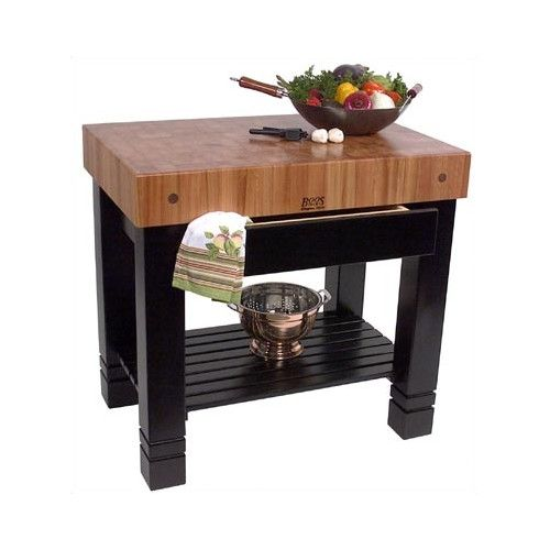 Rouge Et Noir Prep Table With Butcher Block Top Cocina