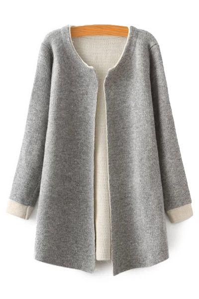 Color Block Long Sleeve Cardigan