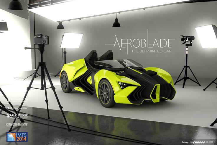 Aeroblade 3D printed car