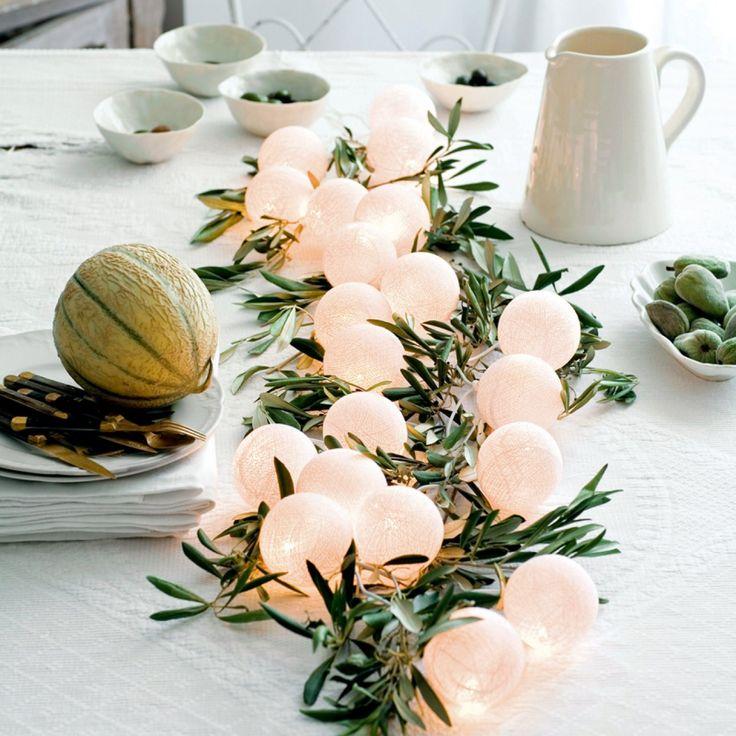 1000 id es sur le th me branches d 39 olivier sur pinterest - Chemin de table lumineux ...