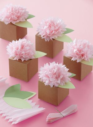 Pom Pom Flower Treat Box - Favor Boxes - Favor Packaging - Baby Favors and Things
