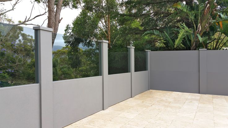 Vogue Wall with tinted glass infills