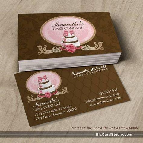 Elegant Cake Bakery Business Cards Carte De Visite