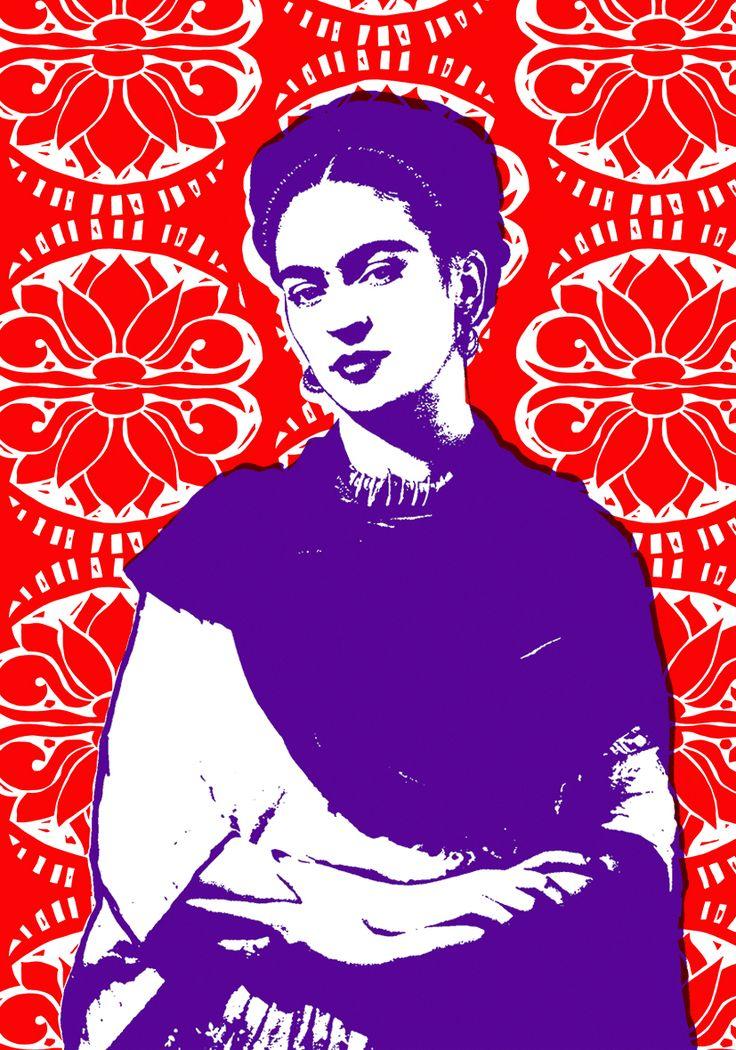 Frida Kahlo Tea Towel by Plum Jam
