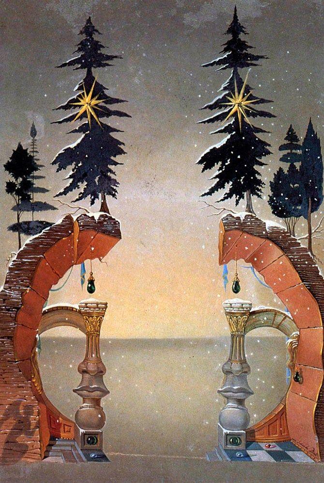 Salvador Dalí aka Salvador Domingo Felipe Jacinto Dalí i Domènech, 1st Marqués de Dalí de Pubol (1904-1989)  —   Christmas (670×996):