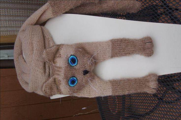 Katze Schal siamesische Katze Tier strickend Schal-Cat Lover