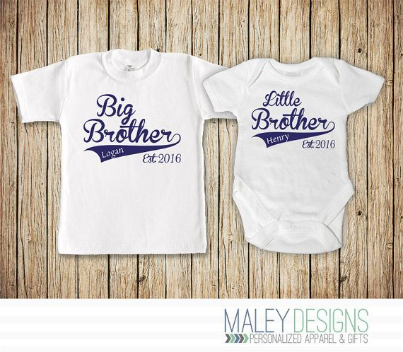 Big Brother Little Brother Set Matching Brother by MaleyDesigns
