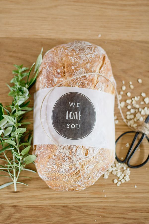 "FREE printable: ""We Loaf You"" bread sleeves"
