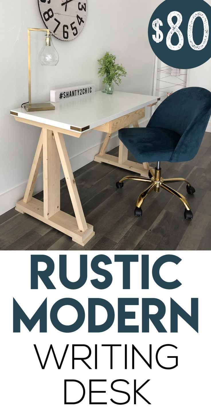 Diy Rustic Modern Writing Desk Writing Desk Modern Guest Bedroom Design Diy Furniture Bedroom