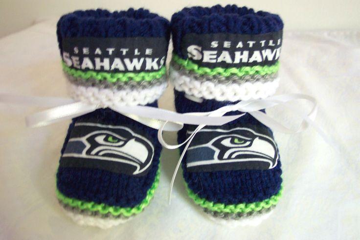Custom handmade knit NFL Seattle SEAHAWKS baby by hart2hartcrafts, $29.99