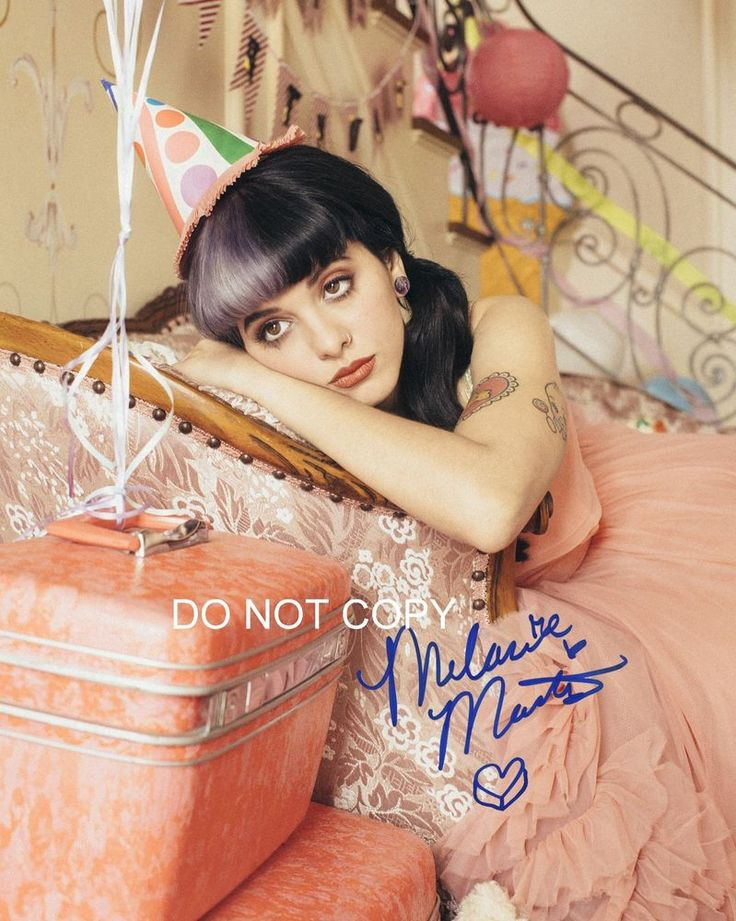 "Melanie Martinez Reprint SIGNED 11x14"" Poster #3 RP Dollhouse The Voice Cry Baby"