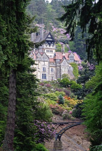 Cragside, Northumberland. The first house in the world to be lit with hydro electricity.