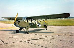 Aeronca L-3B del Museo Nacional de la Fuerza Aérea de Estados Unidos