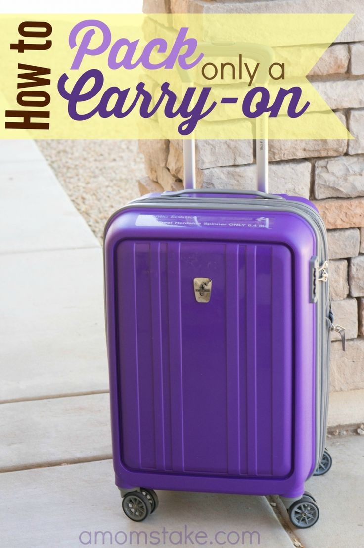 Tips for how to pack using only a carry-on suitcase! These ideas will making luggage packing easier for your next trip!
