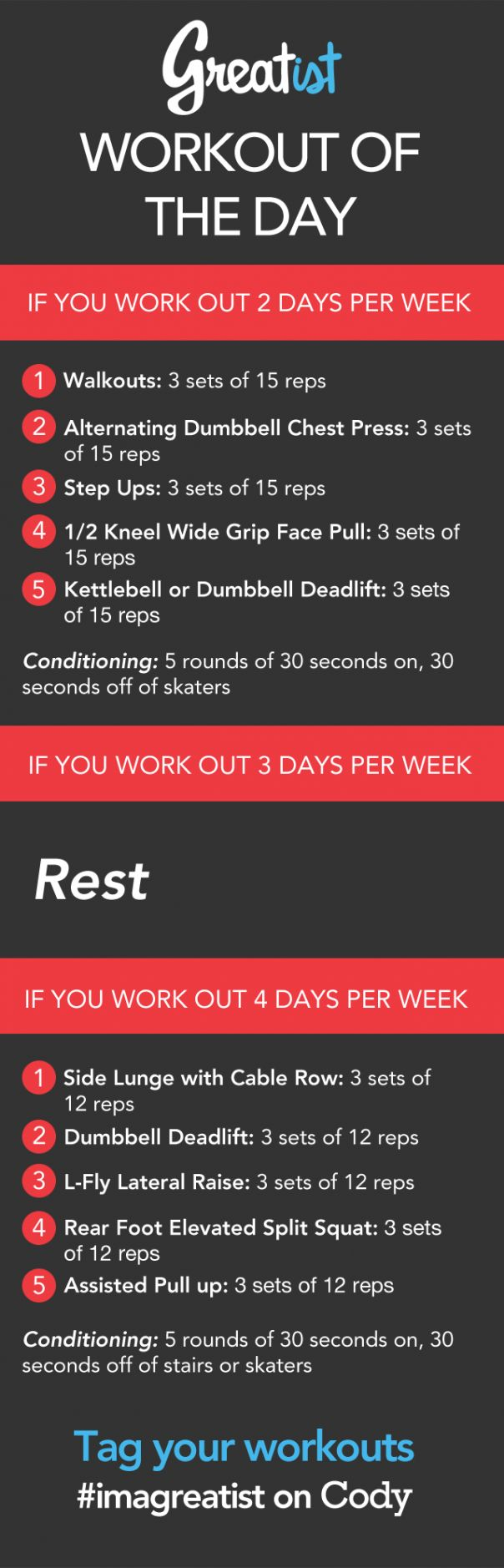 Workout of the Day: Thursday Aug. 29