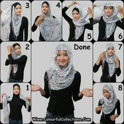 Hijab tutorial! Omg I love this!!!!