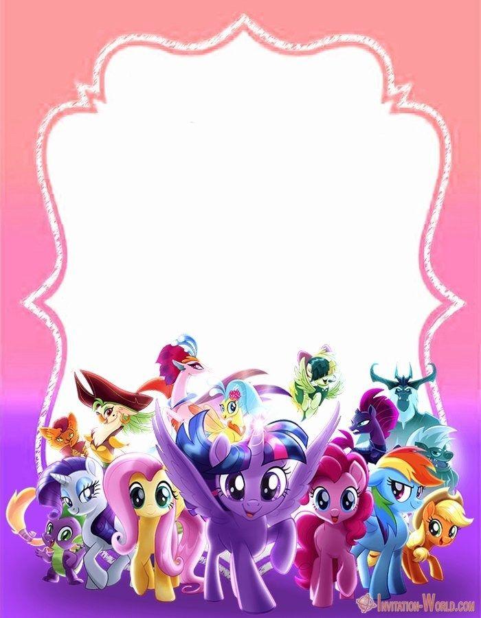 my little pony invitation templates