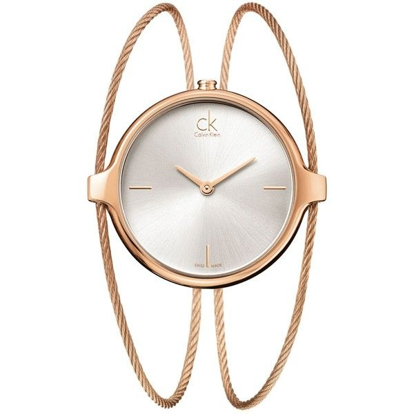 Ck Calvin Klein Watch, Women's Swiss Agile Rose Gold Pvd Stainless... ($400) ❤ liked on Polyvore
