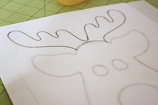 reindeer tail template - diy reindeer shirt christmas pinterest