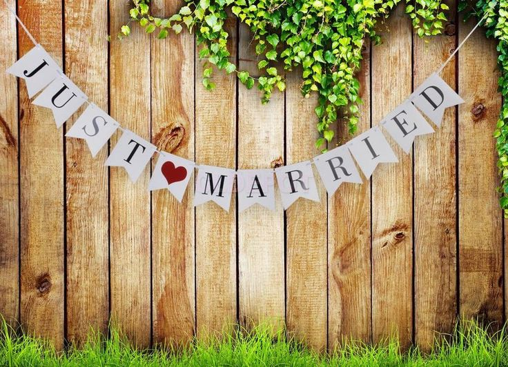 JUST MARRIED Bunting Banner Garland Romantic Wedding Decoration Photo Prop #Unbranded #BridalShower