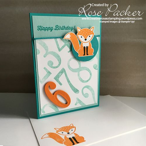 Rose Packer Creative Roses Stampin' Up! Foxy Friends {love how this is laid out - change fox to cupcake!}