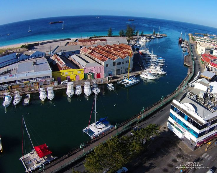 Beautiful waterfront in Barbados' capital city, Bridgetown.
