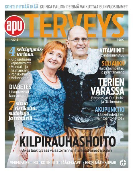 KILPIRAUHASHOITO Oikea lääkitys saa vajaatoiminnan oireet aisoihin  http://www.apu.fi/artikkeli/uusi-apu-terveys-ilmestynyt-5