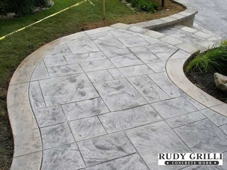 84 best images about landscaping on pinterest raised - Stamped concrete walkway ideas ...