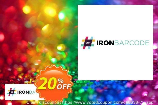 IronBarcode Agency License Coupon 20% discount code, May