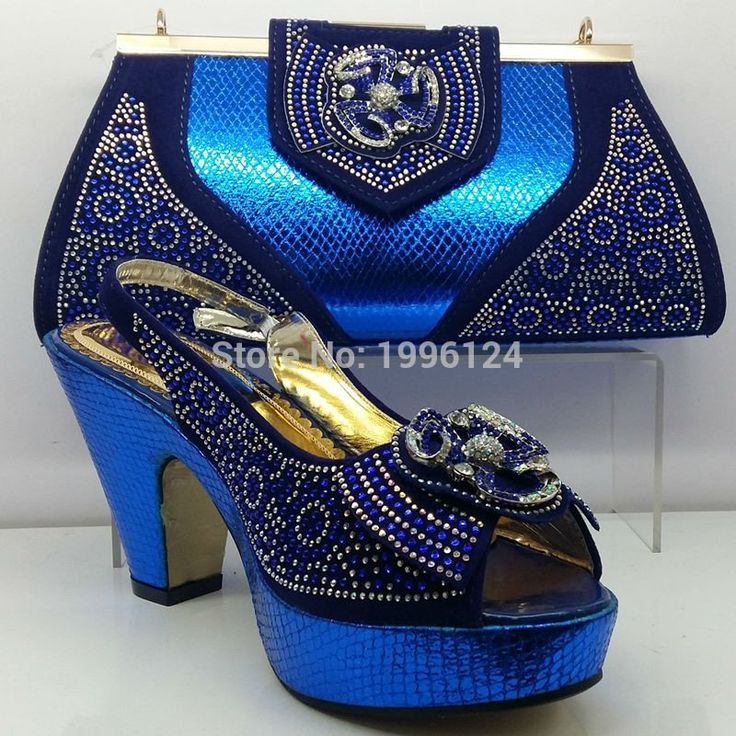 High Quality Matching Italian Shoes and Bag Set African Style