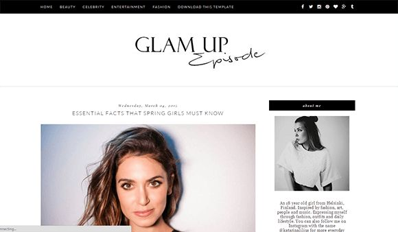 Free Glam Up Blogger Template | Blogger Templates Gallery