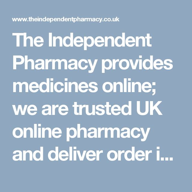 The Independent Pharmacy provides medicines online; we are trusted UK online pharmacy and deliver order in less than 24 hours. We value your privacy as well as your health.