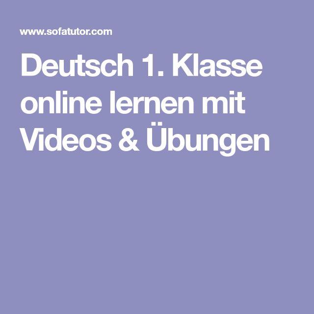 Deutsch 1. Klasse online lernen mit Videos & Übungen