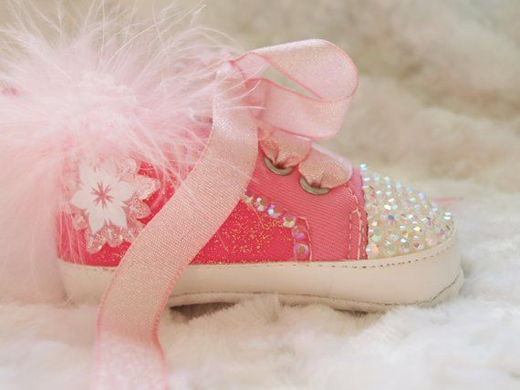 f2a84c7c2b4f Gorgeous Pink Sparkly Glitter Baby Girls Shoes Reborn Boots Pram Shoes Crib  Shoes 0-6, 6-9, 9-12 Months BRAND NEW Shoe and Headband