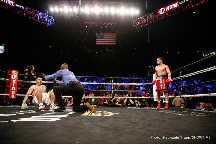 Shawn Porter calls out Danny Garcia in ring #BrandonRios #DannyGarcia #allthebelts #boxing