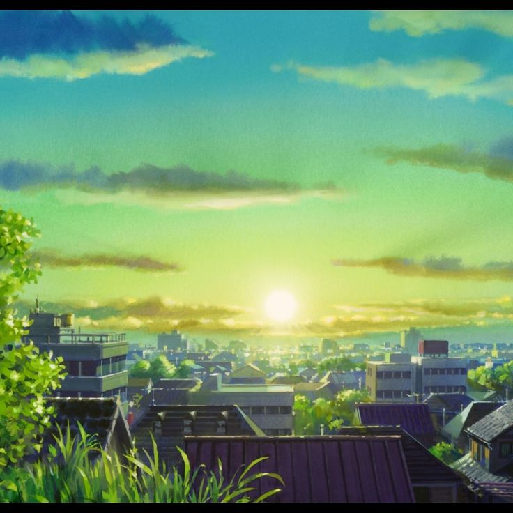 Anime City Scenery Wallpaper Free Desktop 8 Hd Wallpapers